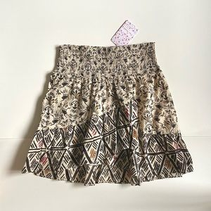 PRICE FIRM Riviera Mini Skirt in Nature Combo